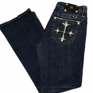 Miss Me Sequins Mid Rise Boot Cut Jeans